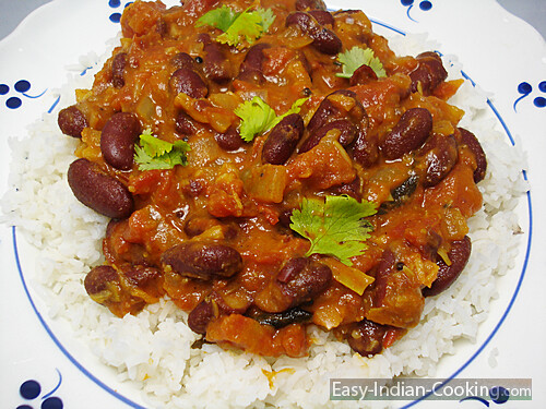Kidney Beans Rajma Masala With Rice Easy Indian Recipes Flickr