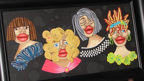 Faces of Carnaval by Lisette D. Vergara (inspired by Alice Stroppel) | by Dork-Chocolate