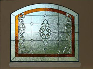 Bevel Clusters & Amber Colored Bathroom Stained Glass Windows | by Scottish Stained Glass