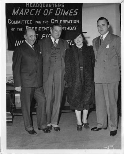 (left to right): Morris Fishbein (1889-1976); Felix Joel Underwood (1882-1959); Anna Mantel Fishbein, wife of Morris Fishbein; and Keith Morgan | by Smithsonian Institution