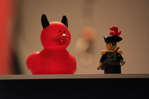Devil Duck & Pirate Lego, with Admiral Ackbar hidden in the bokeh | by @harryshuldman