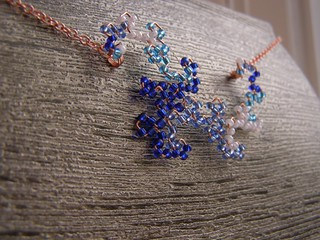3-tone blue Dragon Curve Necklace | by DragonNerd