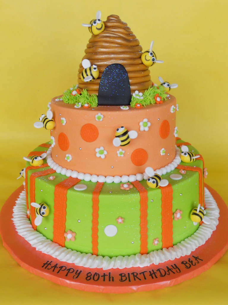 Beehive Bumble Bee Birthday Cake When Your Name Is Beatric Flickr