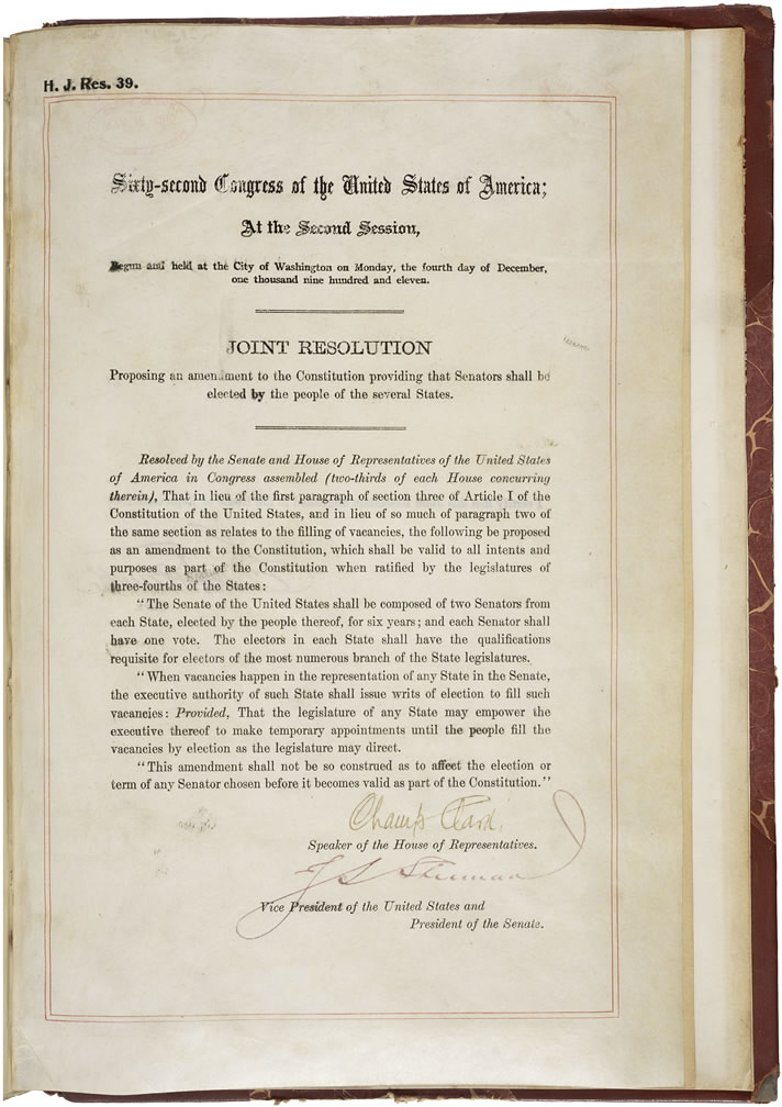 17th Amendment To The Us Constitution Direct Election O Flickr