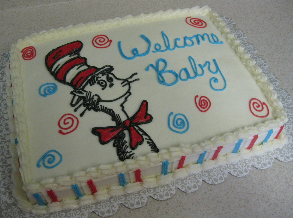 Cat in Hat cake 14 sheet cake white cake with buttercrea Flickr