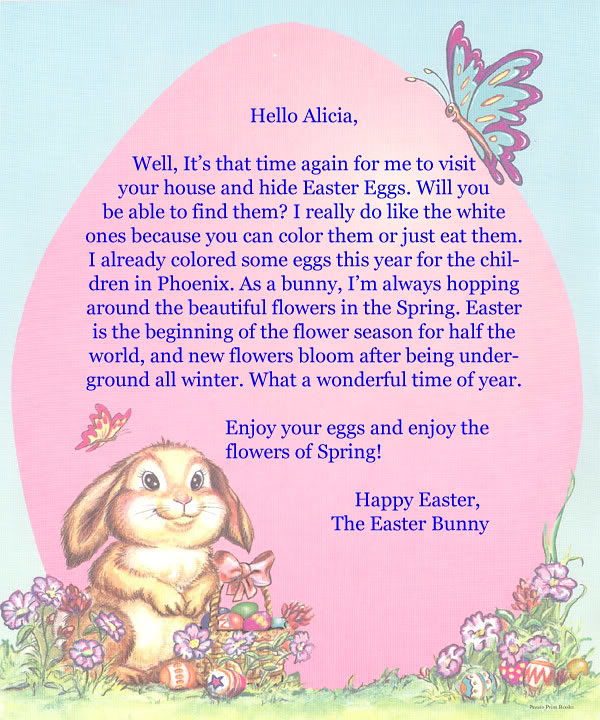 Easter bunny letters free letters from the easter bunny at flickr easter bunny letters by freebie fanatics spiritdancerdesigns Image collections