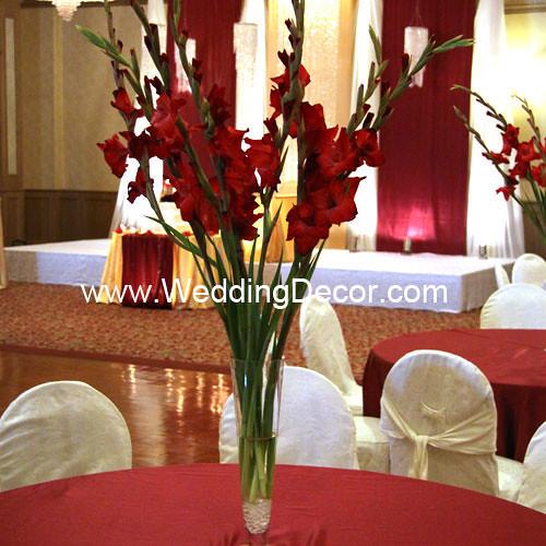 Wedding Centerpieces Red Gladiolus A Wedding Centerpiece Flickr