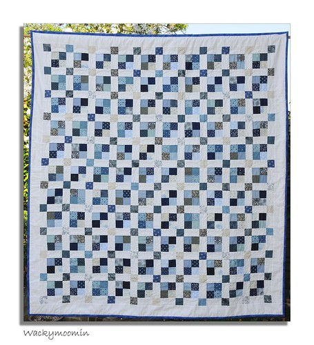 Blue Lagoon This Is A Jelly Roll Quilt Made From The
