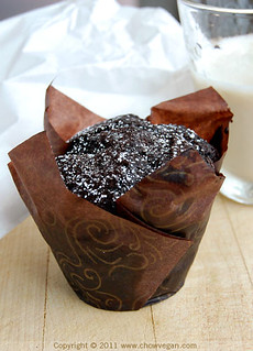 Vegan Chocolate Muffin From Pamplemousse | by chow vegan
