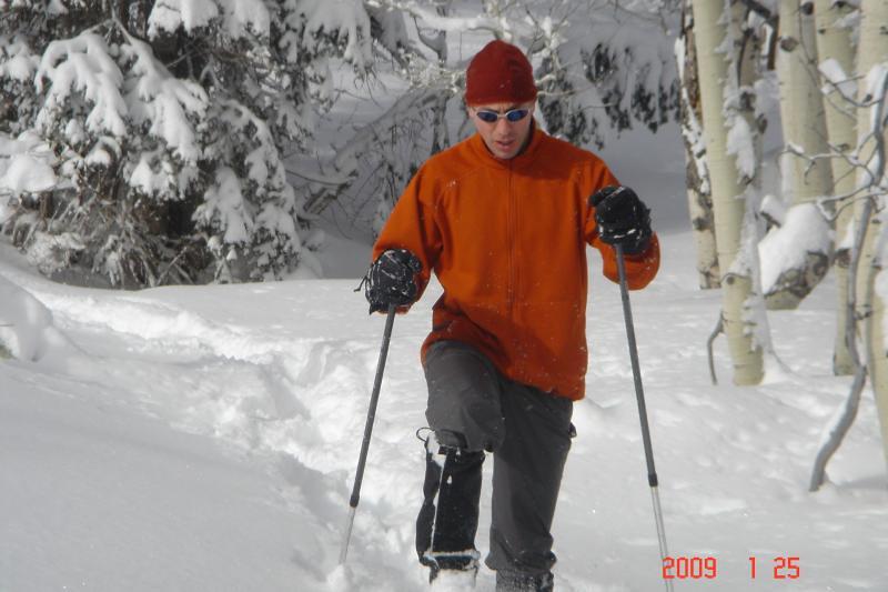 Team Yukon Charlie's Snowshoeing in Park City   Yukon