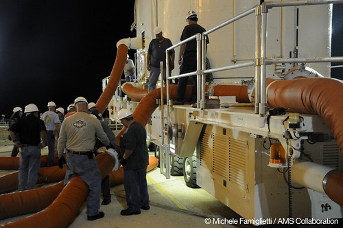 17 - Placing the pipes - Photo Credit: Michele Famiglietti AMS-02 Collaboration | by ams02web