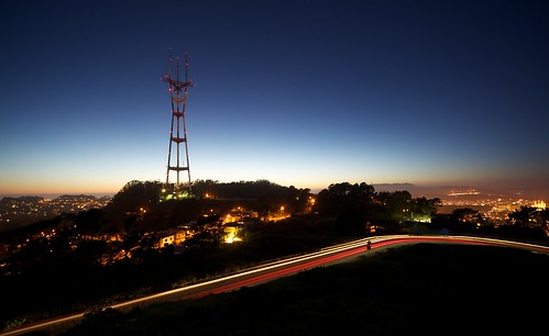 Sutro Tower from Twin Peaks after Sunset | by Marc Liyanage