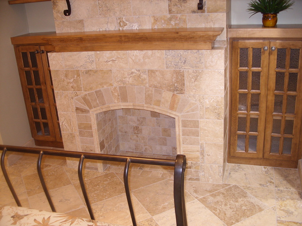 Travertine Tile Fireplace Matt Cupan Flickr