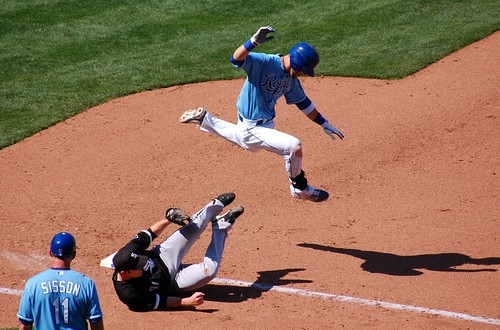 Alex Gordon had to LEAP up over him! | by Minda Haas Kuhlmann