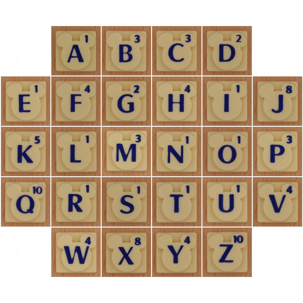 Disney Scrabble alphabet | 1. white, 2. Disney Scrabble Lett… | Flickr