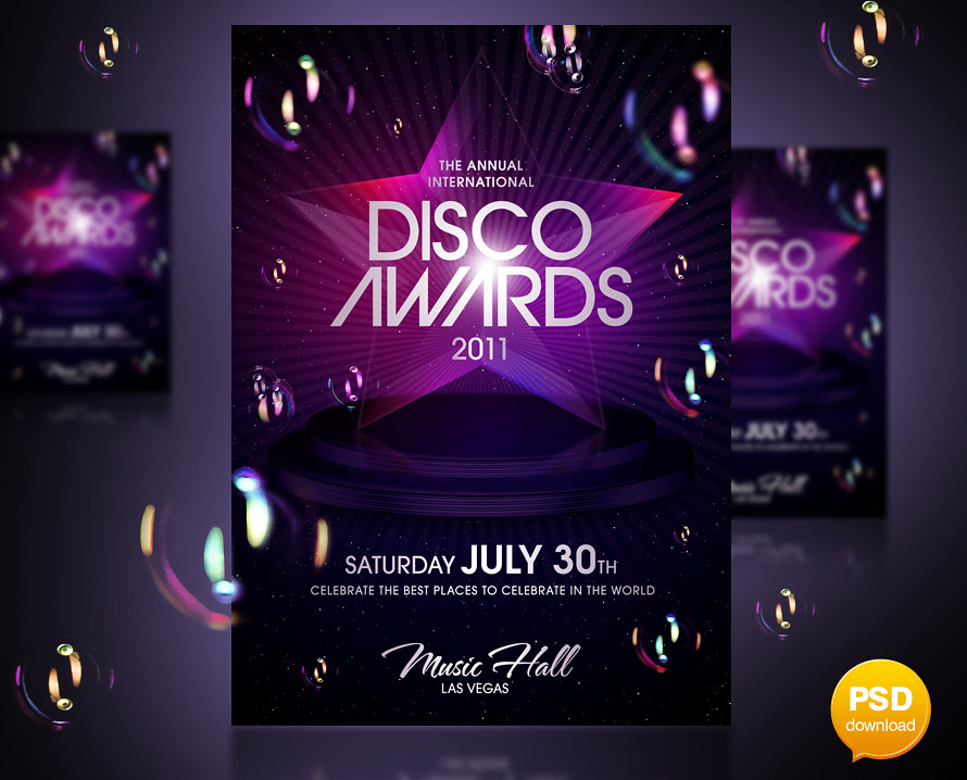 Disco Awards Party Flyer Template You Can Download The Psd Flickr