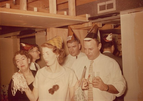 New Years Eve 1961 (probably).  That's Grandma on the left.  Mom is pregnant with John, as Cindy was very young then (see next pic). | by LindaBCool