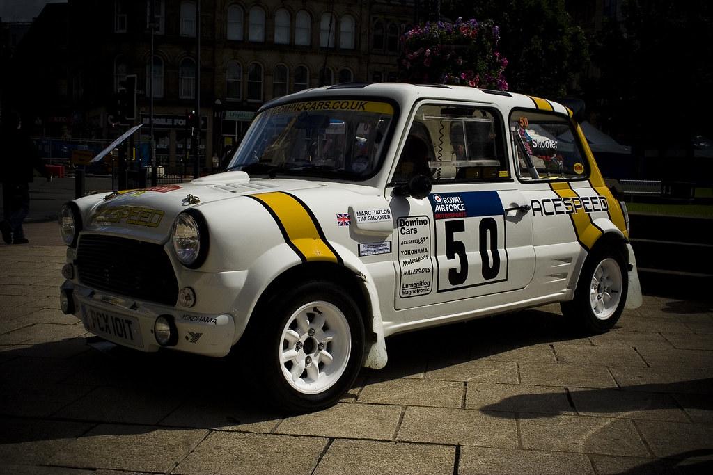 Classic Mini Cooper race/rally car | Old school racing mini.… | Flickr
