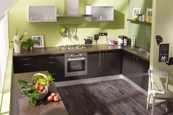 cuisine équipée marron - modèle design brillant modène | flickr - Model De Cuisine Equipee
