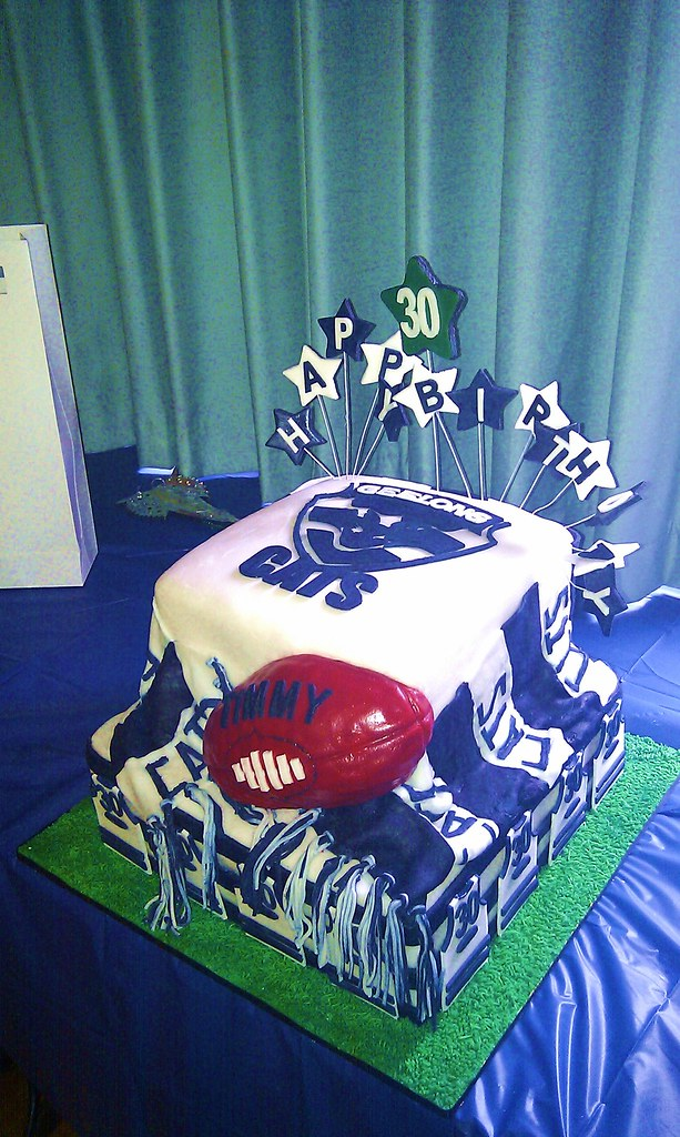 Geelong Cats Footy Birthday Cake Maria Hartwich Flickr