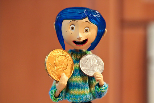 "346/365 Coraline ""The golden quarter or the silver one?"" 