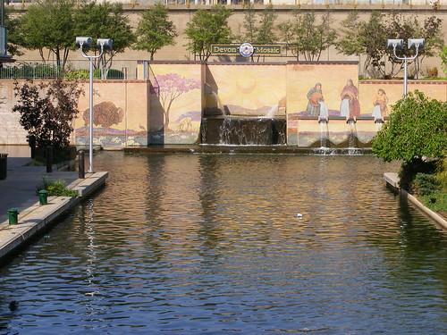 Canal mosaic mural bricktown okc downtown oklahoma for Canal fluminense mural
