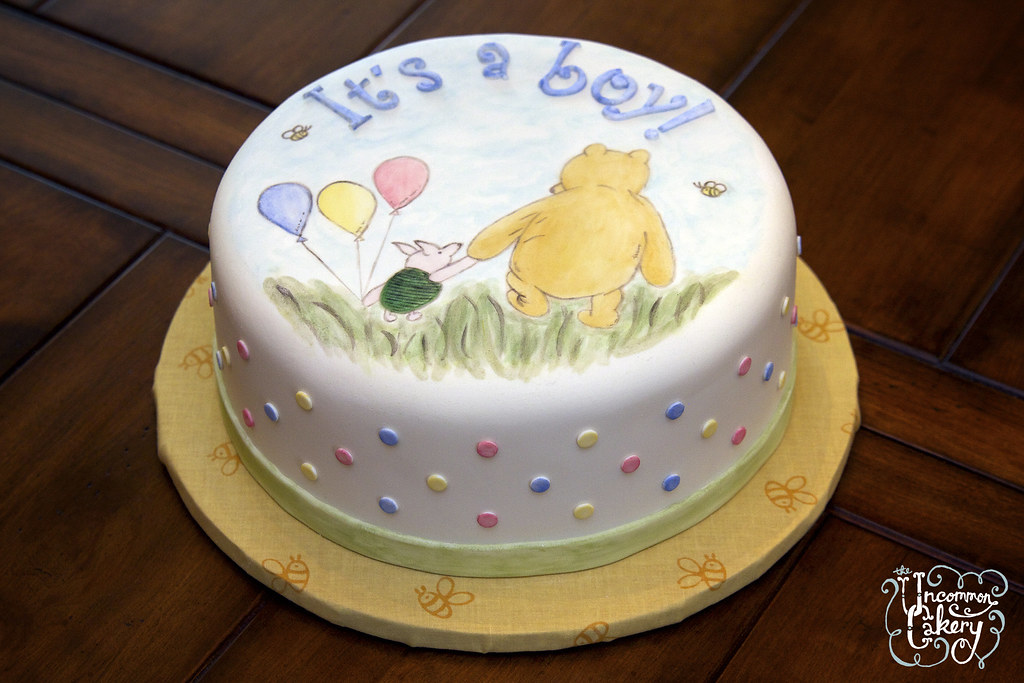 Winnie The Pooh Baby Shower Cake A Cute Little Baby Show Flickr