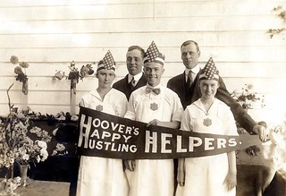 Hoover's Happy Hustling Helpers--County Agent, A.R. Chase and County Supt. C.T. Bonney with the Wasco County Canning Team, ca. 1917 | by OSU Special Collections & Archives : Commons