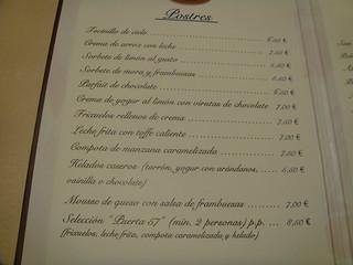 Restaurante puerta 57 madrid carta de postres pablo monteagudo flickr - Restaurante puerta 57 madrid ...