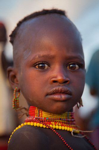 portrait child hamer tribe, near tumi, lower omo valley, ethiopia. | by anthony pappone photography