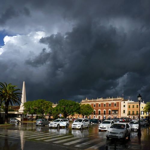 Bright sunlight shines after hail on historic quarter of Ciutadella | by B℮n