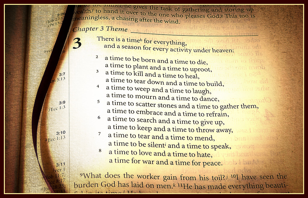Week 15 Time Ecclesiastes 3 A Time For Everything Flickr
