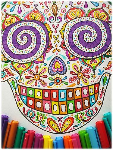 sugar skull coloring pages thaneeya - photo#13