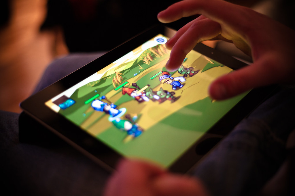 Gaming on tablet
