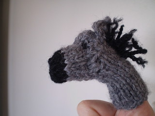 Donkey finger puppet | by Snailystitches