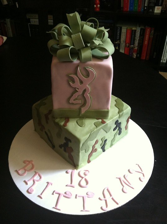 Marvelous Brittanys Pink Camo Birthday Cake I Received Several O Flickr Personalised Birthday Cards Paralily Jamesorg