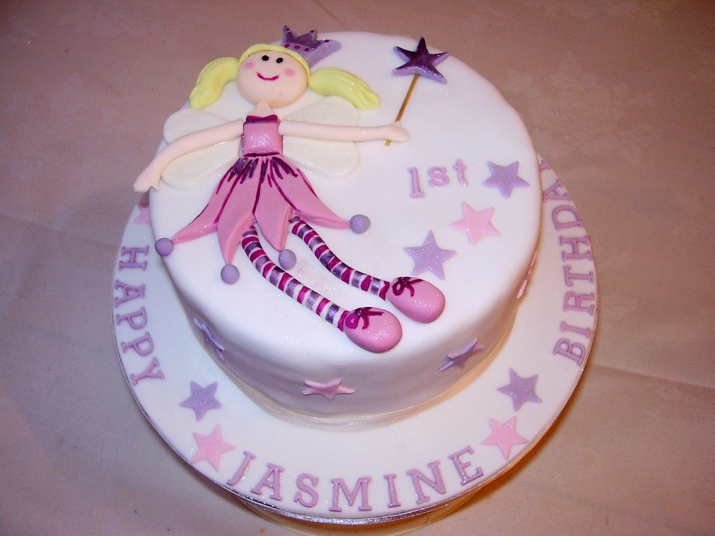 Funky Fairy Birthday Cake Lovely Fairy With Long Stringy L Flickr