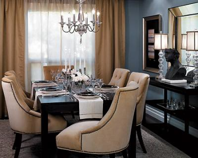 Blue Gray Dining Room Benjamin Moore Cloudy Sky