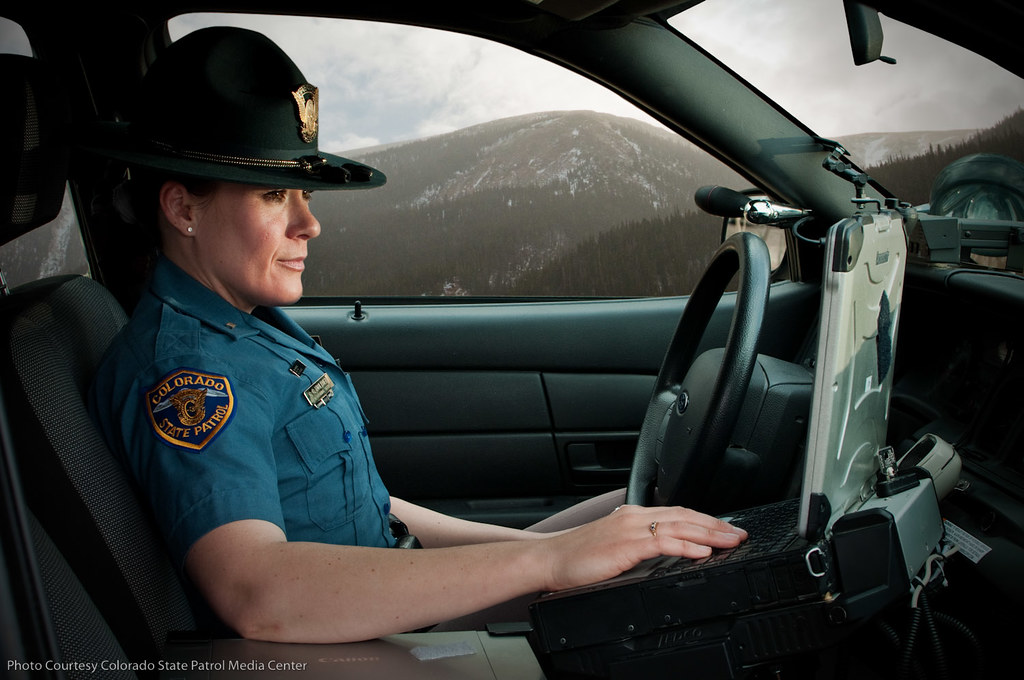 Trooper working on computer colorado state patrol flickr trooper working on computer by colorado state patrol sciox Image collections