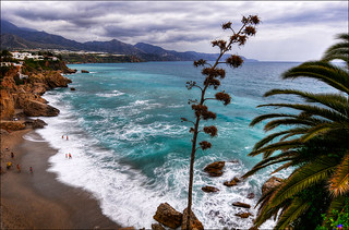 View over the bay of Nerja | by Romtomtom