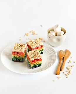 Rainbow Rice Krispies Treats | by raspberri cupcakes