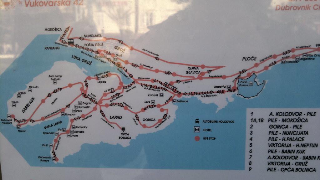 Dubrovnik Bus Map By Hugovk