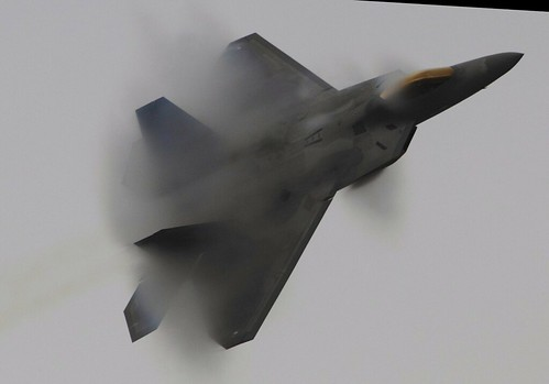 F-22A RAPTOR PERFORMS IN THE GLOOM RIAT 2010 | by Arommore Images