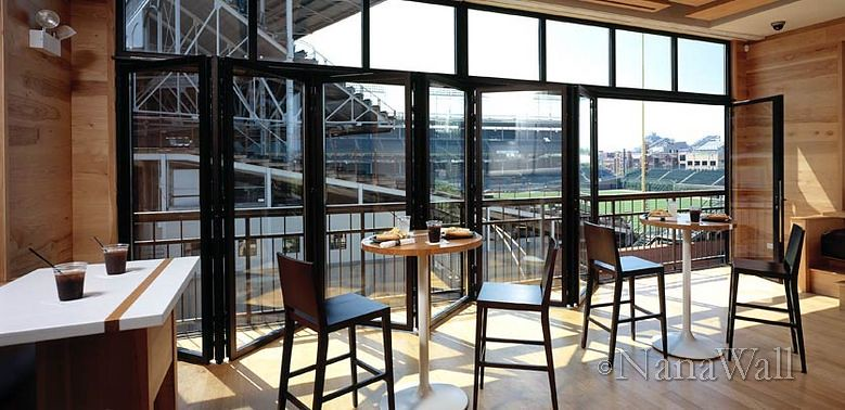 NanaWall Wrigley Field Restaurant | By NanaWall & Nanawall Accordion Doors \u0026 Decoration Accordion Glass Windows And ... Pezcame.Com