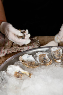 Shucking oysters | by New Amsterdam Market