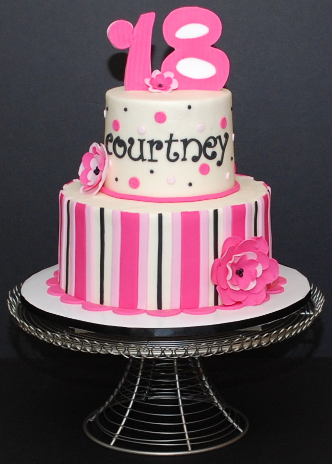 Pink Black White Birthday Cake I Just Finished Up This C Flickr