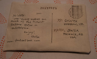 Great Big Stitched Postcard Swap 2011: Love | by eustella