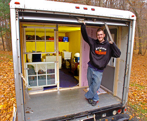 Uhaul Mobile Home Standing On The Quot Porch Quot Of His