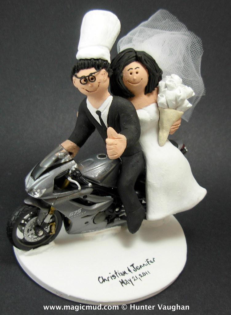 Customweddingcaketoppers Triumph Motorcycle Wedding Cake Topper