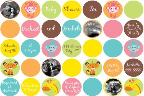 Fisher Price Rain Forest Collage Baby Shower Invitation Flickr